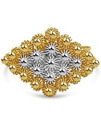 Bellus Domina Sterling Silver Filigree Ring - Metallic