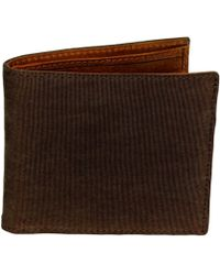 40 Colori | Brown Solid Washed Mogador & Leather Wallet | Lyst