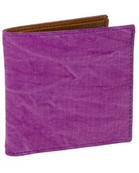 40 Colori - Violet Solid Washed Mogador & Leather Wallet - Lyst