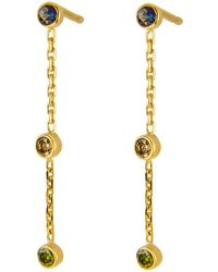 Irena Chmura Jewellery Dewy Drop Earrings - Multicolour