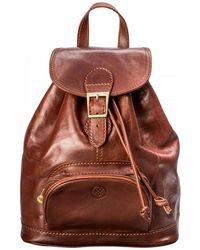 Maxwell Scott Bags | Luxury Italian Leather Women's Rucksack Sparano Chestnut Tan | Lyst