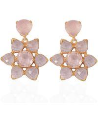 Emma Chapman Jewels - Elara Rose Quartz Morganite Earrings - Lyst