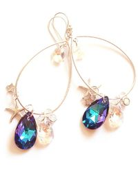 Miss High & Low - Hunted Swarovski Earrings - Lyst