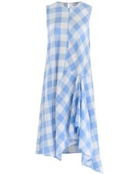 Paisie - Gingham Trapeze Dress With Deconstructed Panels - Lyst