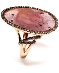Ri Noor - Pink Sapphire Slice Ring - Lyst