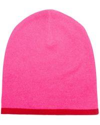 325e38ba86d Orwell + Austen Cashmere - Cashmere Beanie Neon Pink   Red - Lyst