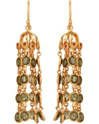 Carousel Jewels - Dome Waterfall Earrings With Peridot - Lyst