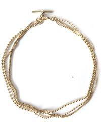 Alice Eden - Dot Dash Gold Layered Chain Bracelet - Lyst