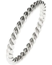 LÁTELITA London - Cosmic Large Twisted Flax Ring Silver - Lyst