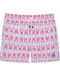 Pink House Mustique Men's Swim Shorts - Red