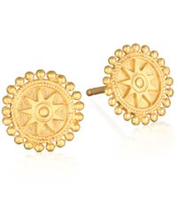 Satya Jewelry - Gold Mandala Stud Earrings - Lyst