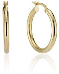 Essentials Jewels Thin Hoop Earring - Metallic
