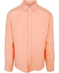 Haris Cotton Pythagoras Long Sleeve Shirt Lotos - Orange