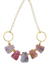 Magpie Rose Peruvian Pink Opal Statement Necklace