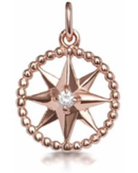 One and One Studio - Rose Gold & Crystal Cut-out Star Pendant - Lyst