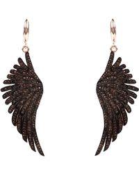 LÁTELITA London Angel Wing Drop Earring Rosegold Chocolate - Brown