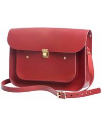 N'damus London - Red Leather 13 Inches Pocket Satchel - Lyst