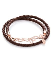 Sarah Ho - Sho - Mari Double Friendship Bangle Brown - Lyst