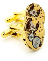 LC COLLECTION - Vintage Gold Watch Movements Cufflinks - Lyst