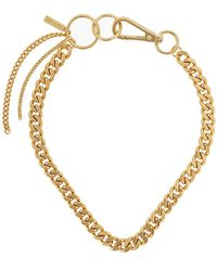 Coup de Coeur London Gold Chain Hoop Linked Necklace - Metallic