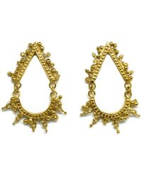 Annabelle Lucilla Jewellery - Eclipse Earrings Gold - Lyst