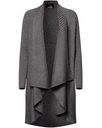 NY CHARISMA Grey Ribbed Cardigan