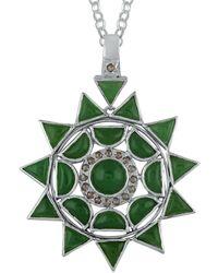 Emma Chapman Jewels Lakshmi Star Pendant - Green