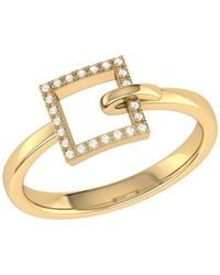 LMJ On The Block Ring In 14 Kt Yellow Gold Vermeil On Sterling Silver - Metallic