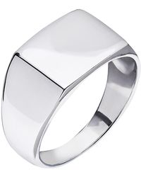 Kaizarin Mens Signet Ring In Sterling Silver - Metallic