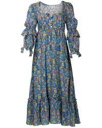 Kristinit Autumn Love Dress - Blue