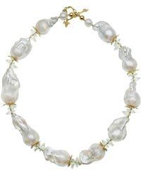 Farra Baroque & Crystals Short Necklace - White