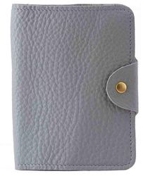 N'damus London - Luxury Italian Leather Grey Passport Cover - Lyst