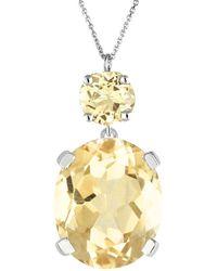 Augustine Jewels Citrine Drop Necklace - Metallic