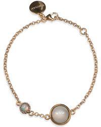 Vintouch Italy - Satellite Rose Gold Vermeil Moonstone Bracelet - Lyst