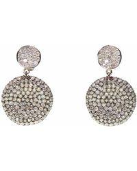 Ri Noor - Two Tone Diamond Earrings - Lyst