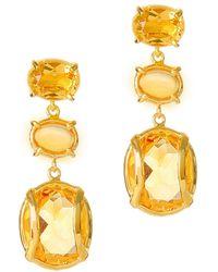 Alexandra Alberta Yosemite Citrine Earrings aFulbeUN