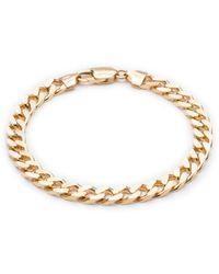 Rachel Jackson London Boyfriend Curb Chain Bracelet Gold - Metallic