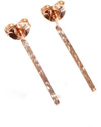 KIND Jewellery | Rose Gold Horizon Earrings | Lyst