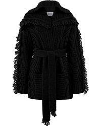 Hayley Menzies Short Etta Cardi-coat Black