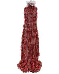 Sarah Regensburger Bone Fire Dress Maxi - Red