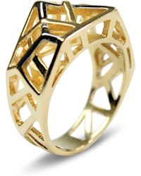 Bellus Domina - Hexa Gold Ring - Lyst