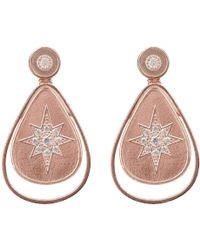 LÁTELITA London Star Burst Brushed Teardrop Earring Rosegold - Pink