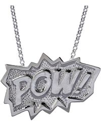 Edge Only - Pow Pendant Extra Large Long In Silver - Lyst