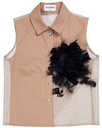 Acephala Feathers Shirt - Metallic