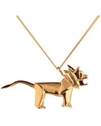 Origami Jewellery - Lion Necklace Gold - Lyst