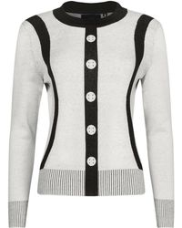 NY CHARISMA Jacquard Faux Buttons Pullover - Multicolour