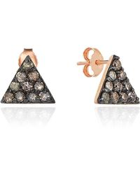 Sadekar Jewellery - Triangle Diamond Single Stud Earring - Lyst