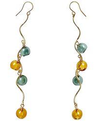 Paisie Dangling Mini Sphere Earrings - Multicolour