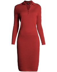 Rumour London - Olivia Red Soft Merino Wool-blend Dress - Lyst