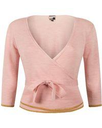 STUDIO MYR Wrap Top Of Extra Fine Merino, Sweety-candy. - Pink